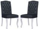 Bourbon Dining Chair Black Velvet