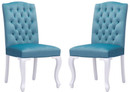 Bourbon dining chair polar blue velvet