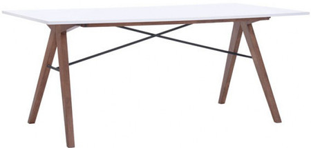 Saints Dining Table Walnut & White