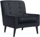 Coney Arm Chair Black Velvet