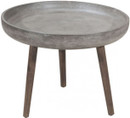 Brother Side Table Cement And Natural
