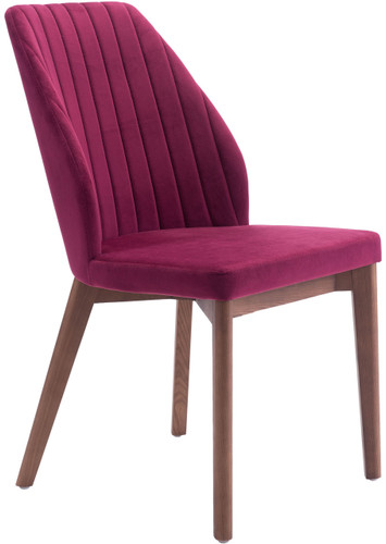 Vaz Dining Chair Red Velvet