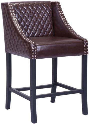 Zuo Modern Santa Ana Counter Chair Brown