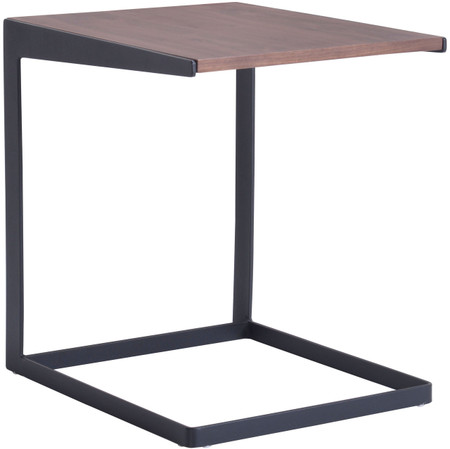 Sister End Table Walnut & Black