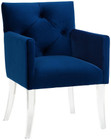 Sebastian Navy Velvet Arylic Chair