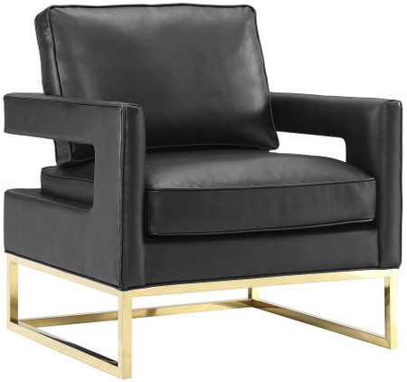 Marino Black Leather Chair