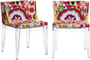 Zuo Modern Pizzaro Dining Room Chair In A Multicolor And Made With Polycarbonate And Upholstered With A Polyblend Fabric.