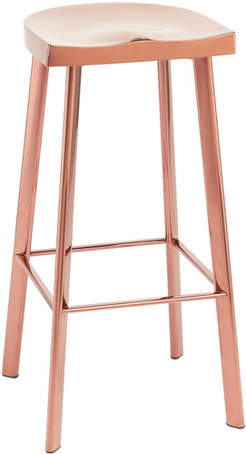 Icon Bar Stool, Rose Gold