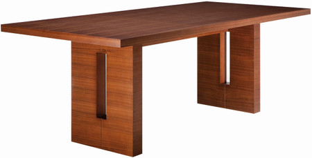 Nico Dining Table In A Stained American Walnut Veneer With A MDF Core Cconstruction
