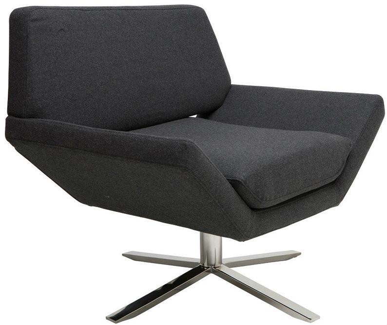 Sly Lounge Chair Dark Grey Wool Or Grey Fabric