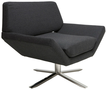 Sly Lounge Chair Dark Grey Wool