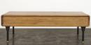 Distrikt Coffee Table In Fumed Oak With Cast Iron Feet