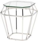 Diamond Side Table Chrome