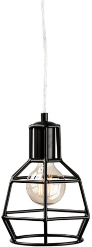 Cage Pendant Lamp Black