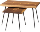Nexa Nested Tables Smoked Oak / Black Cast Iron