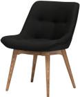 Brie Dining Chair Black Wool