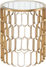 Jewel Side Table Brushed Gold Stainless Steel