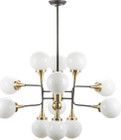 Bella Pendant Lamp Antique Brass / Matte Black