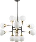 Bella Pendant Lamp Antique Brass / Matte Black