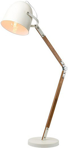Winston Floor Lamp White With Oak