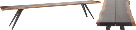 Nuevo Vega Dining Bench Seared Oak