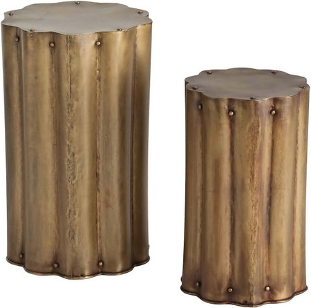 Zeb Accent Tables Antique Brass