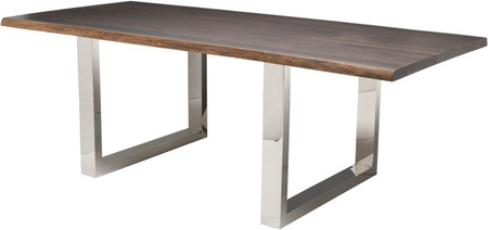 Lyon Dining Table In Seared Oak Finish
