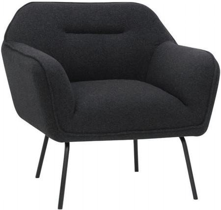 Britta Occasional Chair In Dark Grey