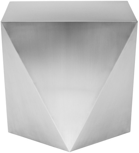Penta Side Table Brushed Stainless Steel