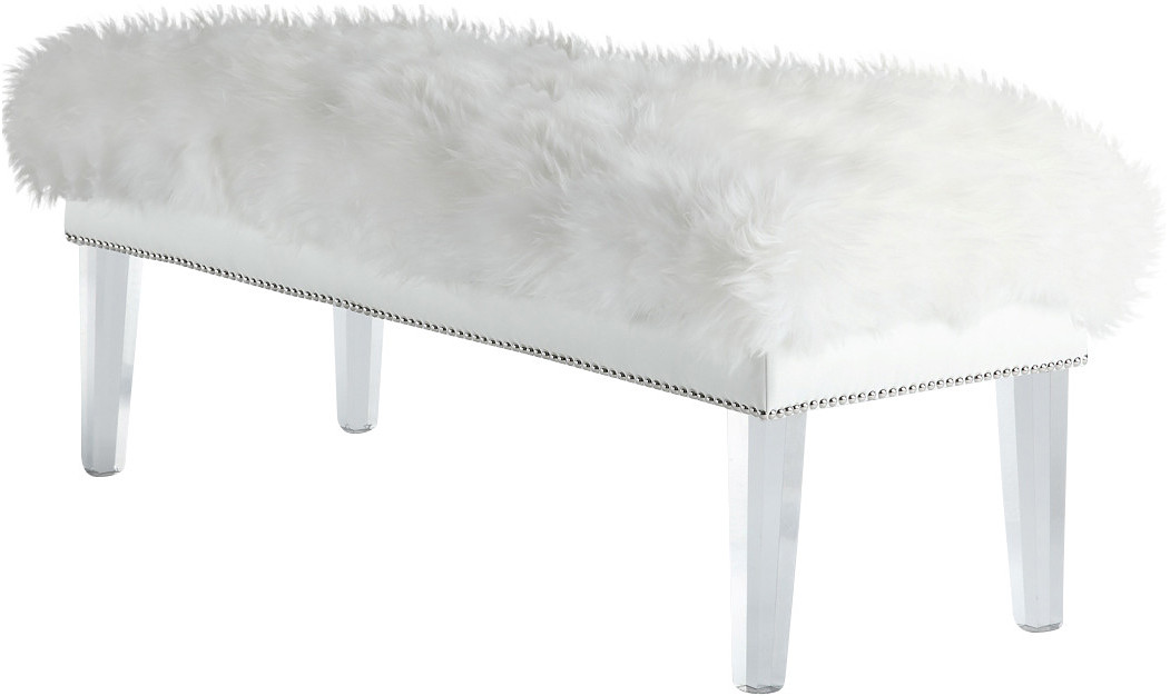 Outstanding Helena Sheepskin Bench Squirreltailoven Fun Painted Chair Ideas Images Squirreltailovenorg
