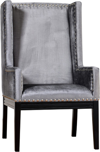 Velvet Orianna Arm Chair Grey