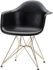 Ray Dining Chair Black And Gold