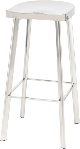 Icon Bar Stool Polished Stainless Steel
