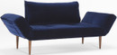 Zeal Sofa Dark Styletto Velvet Blue