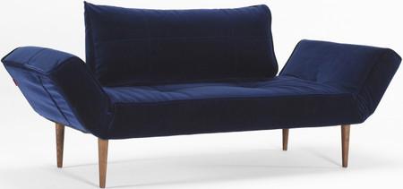 Zeal Sofa Dark Styletto Velvet Blue