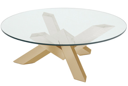 Costa Coffee Table With Gold Base