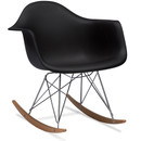 Mid Century Black Modern Rocking Chair