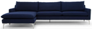 Anders Sectional Sofa Navy Blue