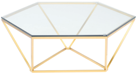 Louisa Coffee Table Brushed Gold