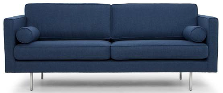 Cyrus Three Seater Azure Blue