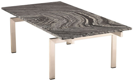 Black Marble Nuevo Living Louve Coffee Table