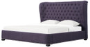 TOV Furniture Cordelia Linen Bed Plum