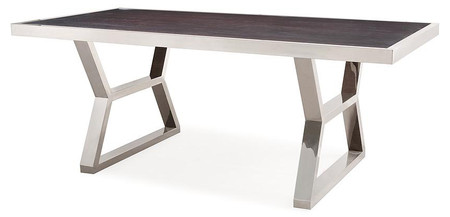 Arthur Wood Silver Metal Dining Table