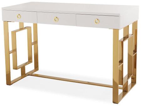 Hepburn White Lacquer Desk