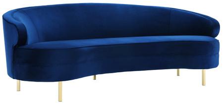 Steinbeck Navy Velvet Sofa