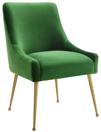 Simeon Green Velvet Side Chair