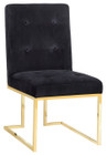 Osaka Black Velvet Chair