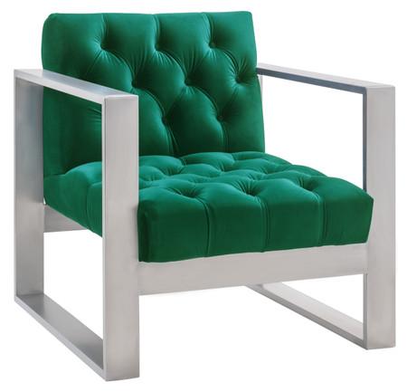 Charlemagne Green Velvet Chair