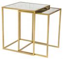Calais Nesting Tables Brass