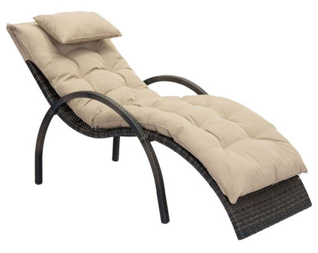Eggertz Beach Chaise Lounge Brown & Beige